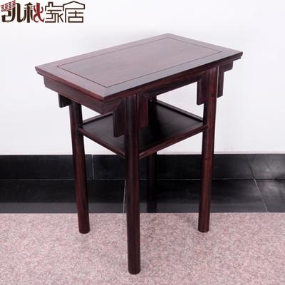 凯秋木雕供桌红木家具黑檀木小书桌仿古木质供桌实木桌子神台佛台