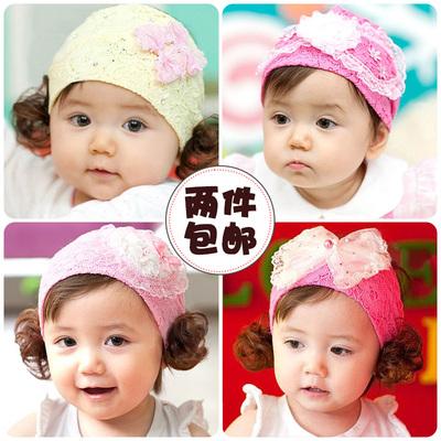 宝宝发带 韩版婴儿头花假发头饰女儿童发饰公主卷发拍照摄影发饰