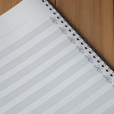 不包邮 空白 四线谱 五线谱本 六线谱 乐谱练习本 a4 吉他本子
