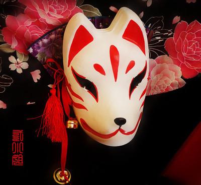 狐狸面具手绘图片