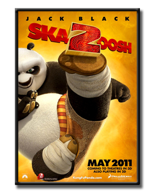 动漫海报可爱装饰画数字画动物挂画个性壁画儿童卡通功夫熊猫2