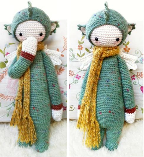 钩针儿童可爱围巾
