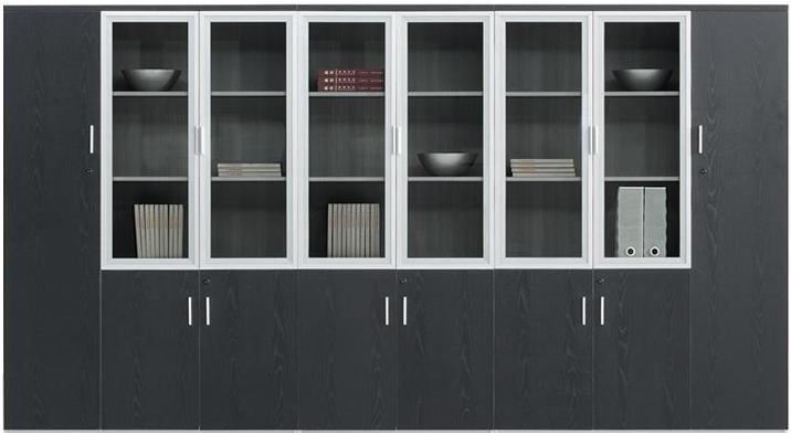 上海办公家具资料柜定制文件柜 板式文件柜 黑色高柜特价促销图片