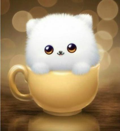 可爱卡通动物点砖十字绣客厅杯型小狗钻石画满钻卧室5d砖石画小幅