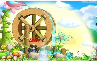 冒险岛 蓝蜗牛 哗啦啦大水车 巨无霸椅子