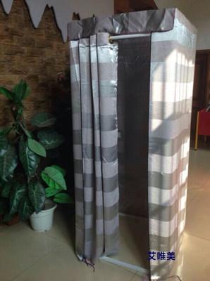 服装店试衣间移动更衣室简易试衣间架子小型临时更衣间屏风帘子