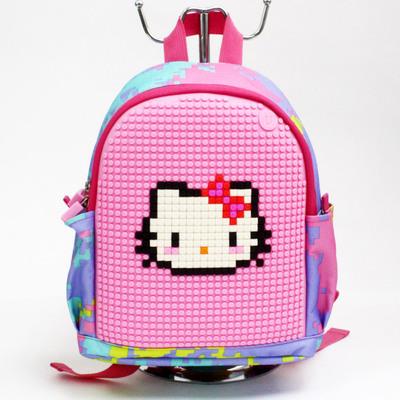 包邮顽意梦想派像素拼图双肩书包背包小童背包儿童背包