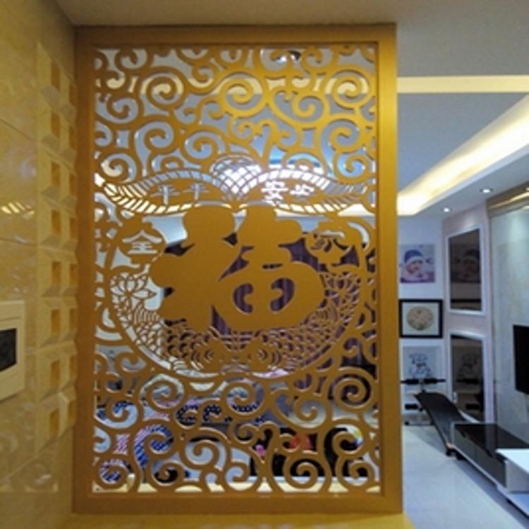 电脑雕刻密度板镂空雕花板材中欧式装修玄关隔断墙