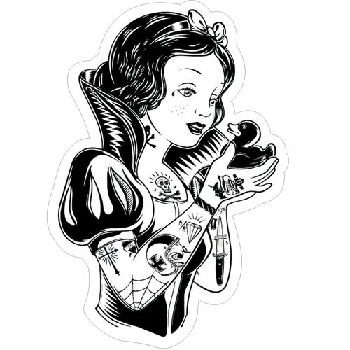 不良白雪公主纹身.防水贴纸.个性笔记本贴纸.tt077[单张]图片