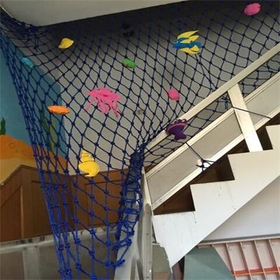 防护网彩色装饰网吊顶网 挂衣网 安全网场地围网 编织绳网麻绳网