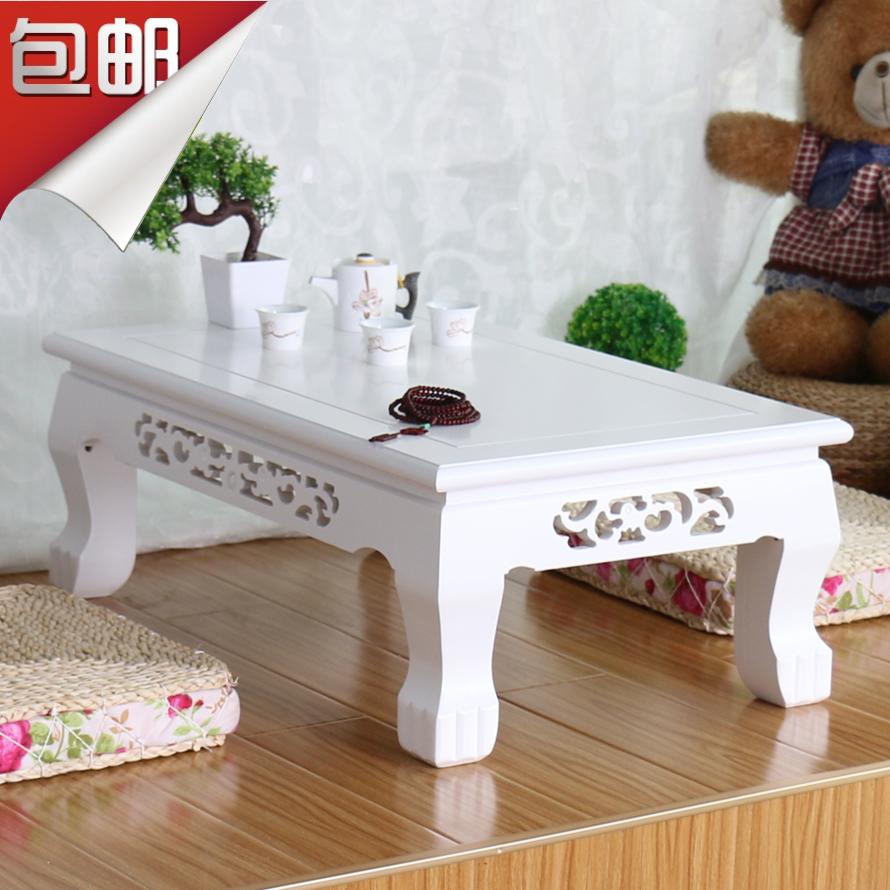 飘窗桌白色欧式榻榻米茶几日式地台桌炕桌阳台小桌子