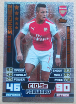 14-15 Topps Match Attax Alexis Sanchez 桑切斯 英超足球星卡