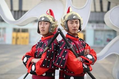特价古代士兵服装男古装盔甲戏曲表演服装花木兰服装
