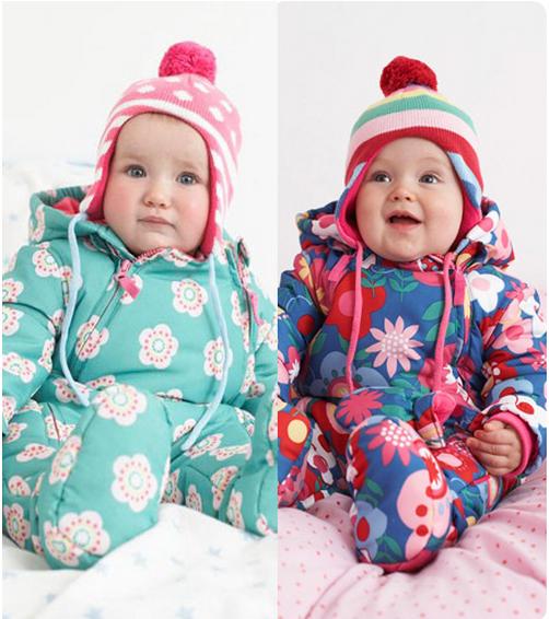 欧美外贸男女童装新生婴儿宝宝冬季纯棉加厚保暖爬服连体哈衣棉袄