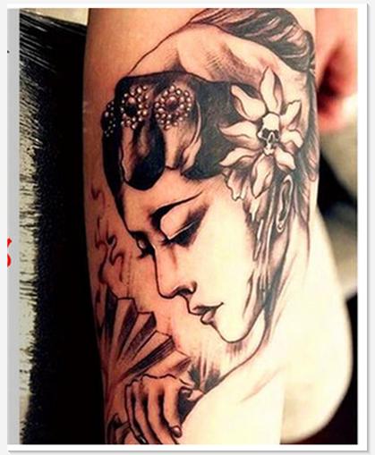 花旦纹身贴防水 男女 艺妓戏子纹身贴