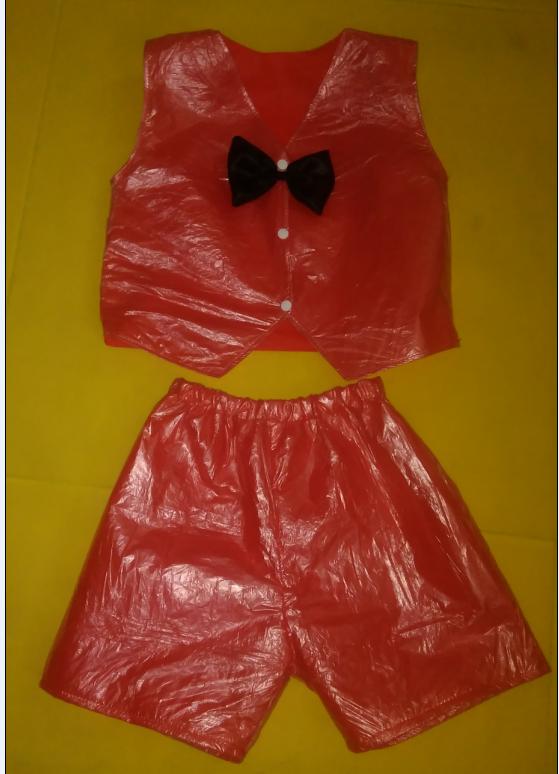 服马甲款幼儿塑料袋环保演出服创意表演服装走秀服