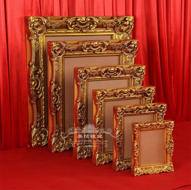 欧式油画相框 壁挂式雕花婚礼古典金色装饰镜框