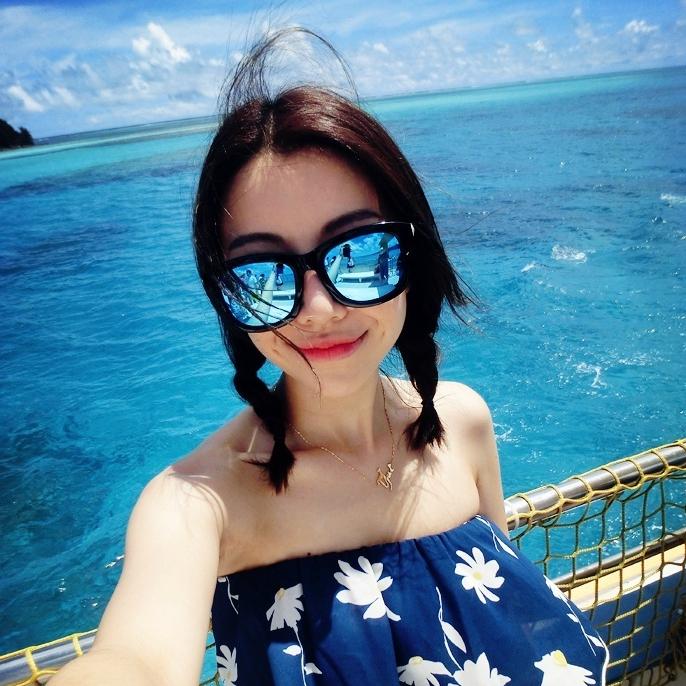 韩国反光墨镜2016杨幂林心如明星同款太阳镜女大框