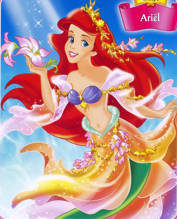动漫海报 迪士尼公主系列 人鱼公主 小美女 经典装饰画 挂画