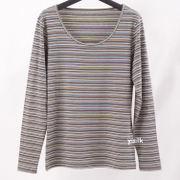 2 pieces of clothes new lady silk knit shirt collar striped silk long sleeved T-shirt autumn clothes