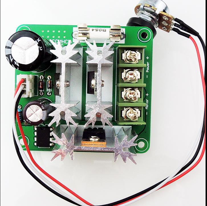 直流电机控制器 无极调速 6v-90v通用pwm直流电机调速器 plc 15a