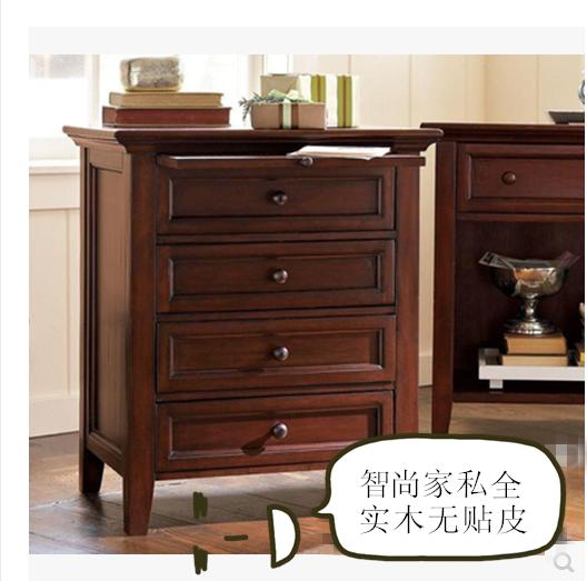 床头柜松木床边柜卧室橡木柜美式家具全实木可定制
