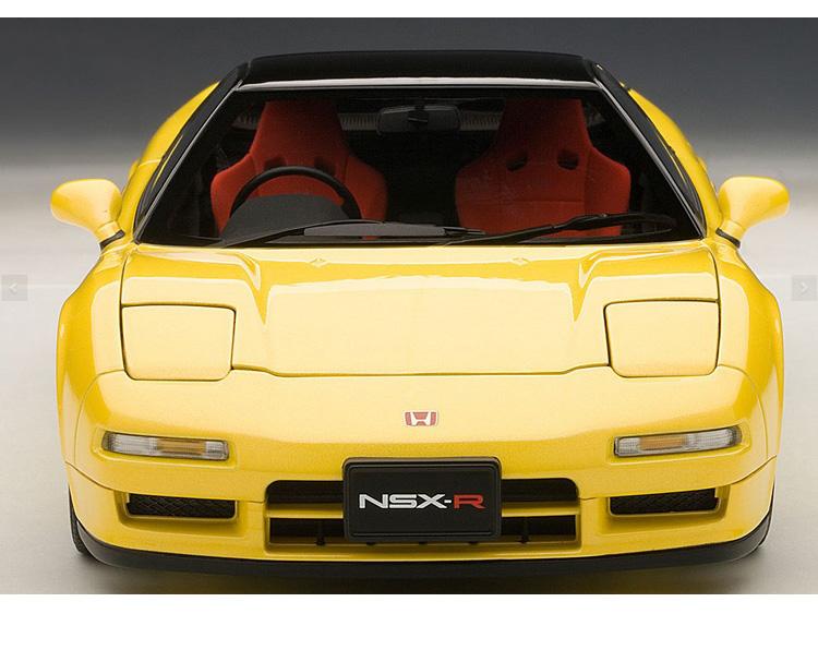 奥拓合金汽车模型1:   本田 nsx type r 1992 黄