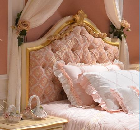 欧式儿童床美式单人床新古典小女孩床1