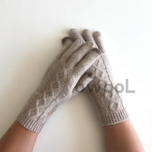 Owool Featured Deals! French custom winter warm touch screen cashmere gloves cashmere gloves
