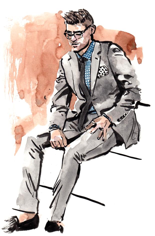 1264男装设计效果图手绘稿手表效果图款式图男装设计