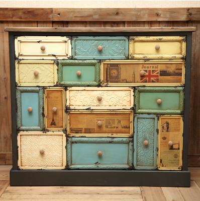 欧式玄关柜家具美式乡村风格斗柜人气仿古地中海柜子
