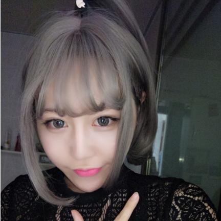 016短发烫发发型图片 / 春季空气刘海发型图片秒变小清新-韩版空气图片