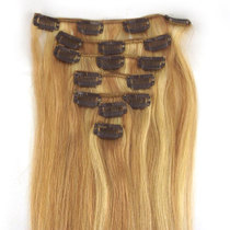 "24"" DIY-Clip In Human Hair Extensions ,MIX color #18/613"