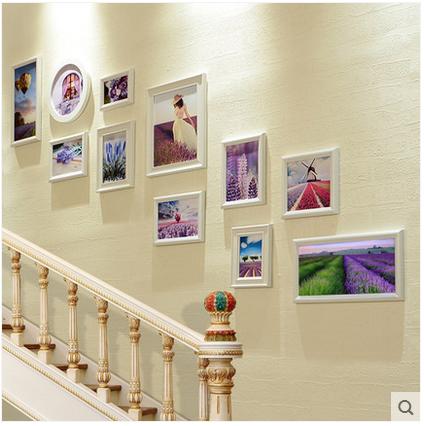 欧式楼梯装饰画创意走廊过道墙面相框挂画客厅沙发