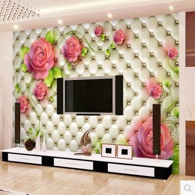 电视背景墙墙纸大型壁画壁纸软包皮质客厅卧室欧式