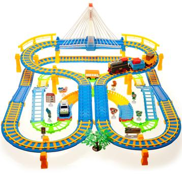 电动轨道车超大复古仿真火车?轨道火车儿童亲子玩具
