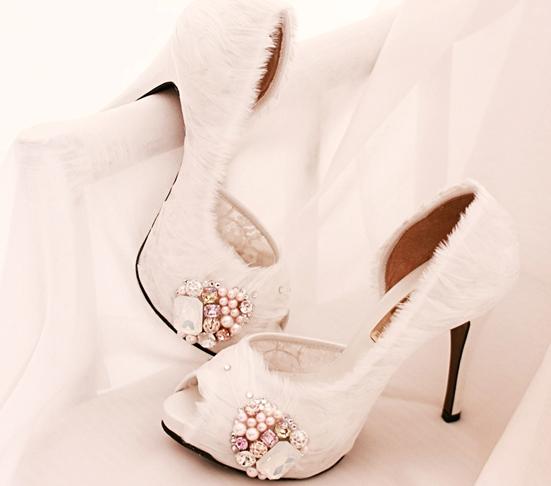 羽毛-水晶鞋