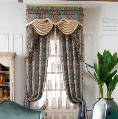 奢华欧式窗帘定制客厅 加厚雪尼尔绒提花窗帘卧室全遮光