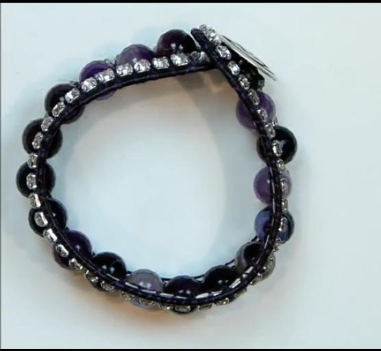 0018欧美米珠编织手链视频教程