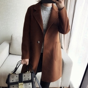 Good version of legend! Exit! Good goods! Simple all-match wool cashmere coat