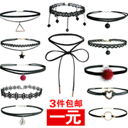 Choker Japan Korea jewelry necklace simple neck neck strap clavicle chain short necklace collar sweater female students