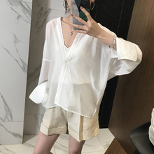 JOCsi clothing can be handsome can not be ordinary stylish profile shiny semi-permeable shirt wan sun protection cardigan