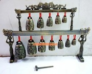 Antique bronze antique ornaments wholesale manufacturers have double Houyi bronze bells dragon instrument