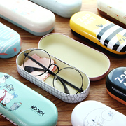 Excellent - Pai small fresh glasses female students creative cute glasses box with metal glasses cloth
