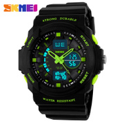The men's double display time outdoor waterproof watch waterproof mountaineering electronic table multifunctional men's male students
