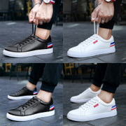 2017 autumn and winter cotton padded shoes white shoes casual shoes with white male Korean male tide cashmere shoes shoes in summer