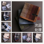 Remember (defective) and wooden men's cotton handkerchief handkerchief wipe water softening treatment benefits