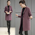 2017 Spring and Autumn new Korean version of the cocoon-style coat women's coat was thin self-cultivation wool coat long paragraph female