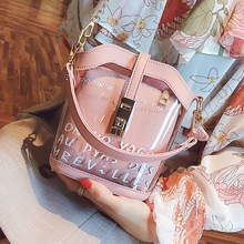 Fairy on a small bag female 2018 new tide summer new transparent diagonal jelly chain mini shoulder Messenger bag