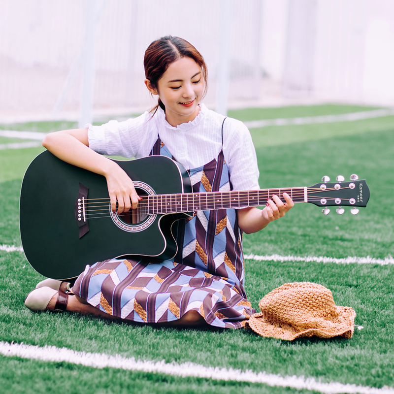 Come near 41 inch spruce folk acoustic guitar beginner exercises 40 inch guitar student female Jita instrument